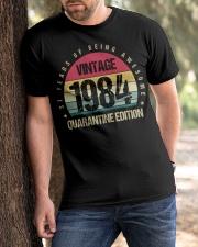 Vintage 1984 Quarantine Edition Birthday Classic T-Shirt apparel-classic-tshirt-lifestyle-front-51