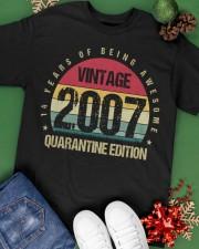 Vintage 2007 Quarantine Edition Birthday Classic T-Shirt apparel-classic-tshirt-lifestyle-back-69