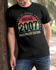 Vintage 2007 Quarantine Edition Birthday Classic T-Shirt apparel-classic-tshirt-lifestyle-front-51