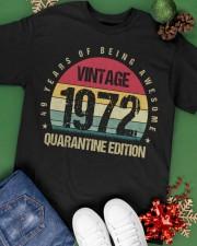 Vintage 1972 Quarantine Edition Birthday Classic T-Shirt apparel-classic-tshirt-lifestyle-back-69