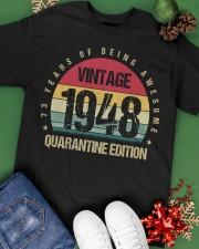 Vintage 1948 Quarantine Edition Birthday Classic T-Shirt apparel-classic-tshirt-lifestyle-back-69