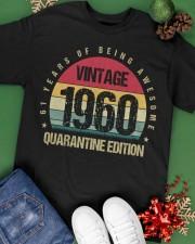 Vintage 1960 Quarantine Edition Birthday Classic T-Shirt apparel-classic-tshirt-lifestyle-back-69