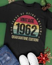 Vintage 1962 Quarantine Edition Birthday Classic T-Shirt apparel-classic-tshirt-lifestyle-back-69