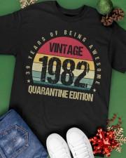 Vintage 1982 Quarantine Edition Birthday Classic T-Shirt apparel-classic-tshirt-lifestyle-back-69