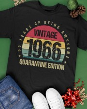 Vintage 1966 Quarantine Edition Birthday Classic T-Shirt apparel-classic-tshirt-lifestyle-back-69
