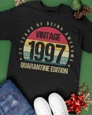 Vintage 1997 Quarantine Edition Birthday Classic T-Shirt apparel-classic-tshirt-lifestyle-back-69