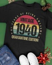 Vintage 81th 1940 Quarantine Edition Birthday Classic T-Shirt apparel-classic-tshirt-lifestyle-back-69