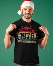 Vintage 1976 Quarantine Edition Birthday Classic T-Shirt apparel-classic-tshirt-lifestyle-front-85