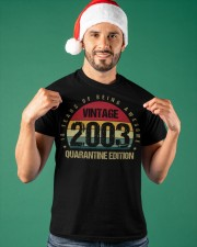 Vintage 2003 Quarantine Edition Birthday Classic T-Shirt apparel-classic-tshirt-lifestyle-front-85