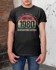 Vintage 1980 Quarantine Edition Birthday Classic T-Shirt apparel-classic-tshirt-lifestyle-31