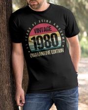Vintage 1980 Quarantine Edition Birthday Classic T-Shirt apparel-classic-tshirt-lifestyle-front-51