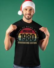 Vintage 1980 Quarantine Edition Birthday Classic T-Shirt apparel-classic-tshirt-lifestyle-front-85
