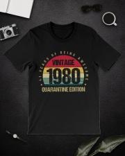 Vintage 1980 Quarantine Edition Birthday Classic T-Shirt lifestyle-mens-crewneck-front-16
