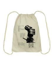 7 5 3 Code of a Warrior Drawstring Bag thumbnail