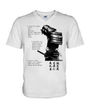 7 5 3 Code of a Warrior V-Neck T-Shirt thumbnail