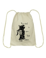7 5 3 Code of a Warrior Drawstring Bag thumbnail