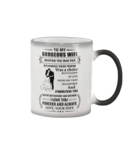 Make it the meaningful message to your wife Color Changing Mug thumbnail