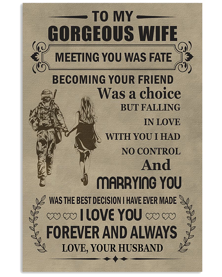 Make it the meaningful message to your  wife 11x17 Poster