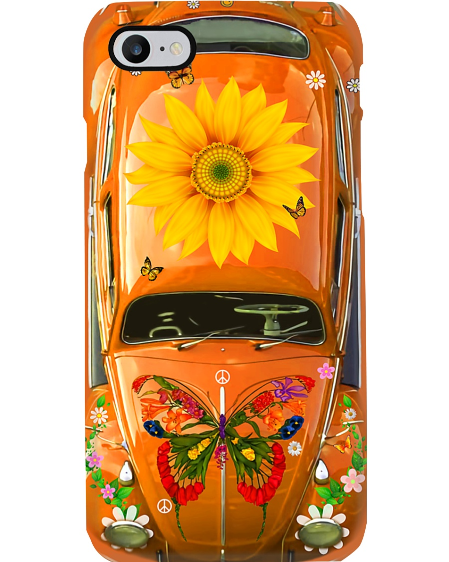 Sunflower VW Bug Phone Case