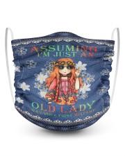 Old LADY 2 Layer Kids Face Mask - Single thumbnail