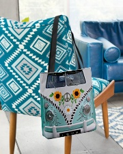 Sunflower Peace Bus All-over Tote aos-all-over-tote-lifestyle-front-01