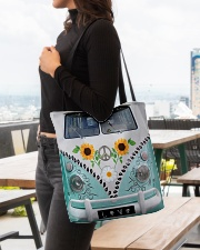 Sunflower Peace Bus All-over Tote aos-all-over-tote-lifestyle-front-04
