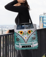 Sunflower Peace Bus All-over Tote aos-all-over-tote-lifestyle-front-05