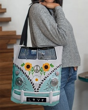 Sunflower Peace Bus All-over Tote aos-all-over-tote-lifestyle-front-09