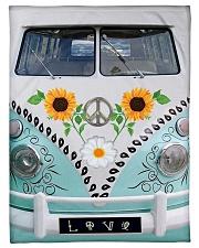 "Sunflower Peace Bus Small Fleece Blanket - 30"" x 40"" thumbnail"