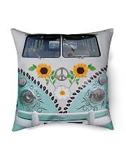 "Sunflower Peace Bus Indoor Pillow - 16"" x 16"" thumbnail"