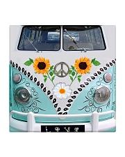 Sunflower Peace Bus Square Coaster thumbnail