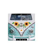 Sunflower Peace Bus Square Magnet thumbnail