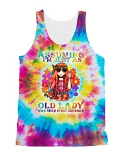 Assuming i'm just an old lady was your first mista All-over Unisex Tank thumbnail