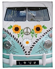 "Sunflower Bus Small Fleece Blanket - 30"" x 40"" thumbnail"