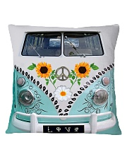 Sunflower Bus Square Pillowcase thumbnail