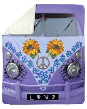 "Sunflower Peace Bus Sherpa Fleece Blanket - 50"" x 60"" thumbnail"