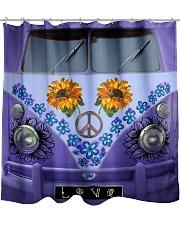 Sunflower Peace Bus Shower Curtain thumbnail