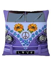 Sunflower Peace Bus Square Pillowcase thumbnail