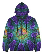 Flower Peace Men's All Over Print Full Zip Hoodie thumbnail
