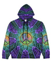 Flower Peace Women's All Over Print Hoodie thumbnail