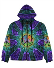 Flower Peace Women's All Over Print Full Zip Hoodie thumbnail