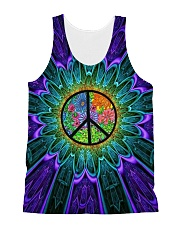 Flower Peace All-over Unisex Tank thumbnail