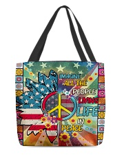Living Life In Peace All-over Tote thumbnail