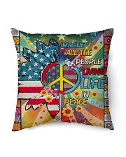 "Living Life In Peace Indoor Pillow - 16"" x 16"" thumbnail"