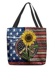Sunflower American Flag All-over Tote thumbnail