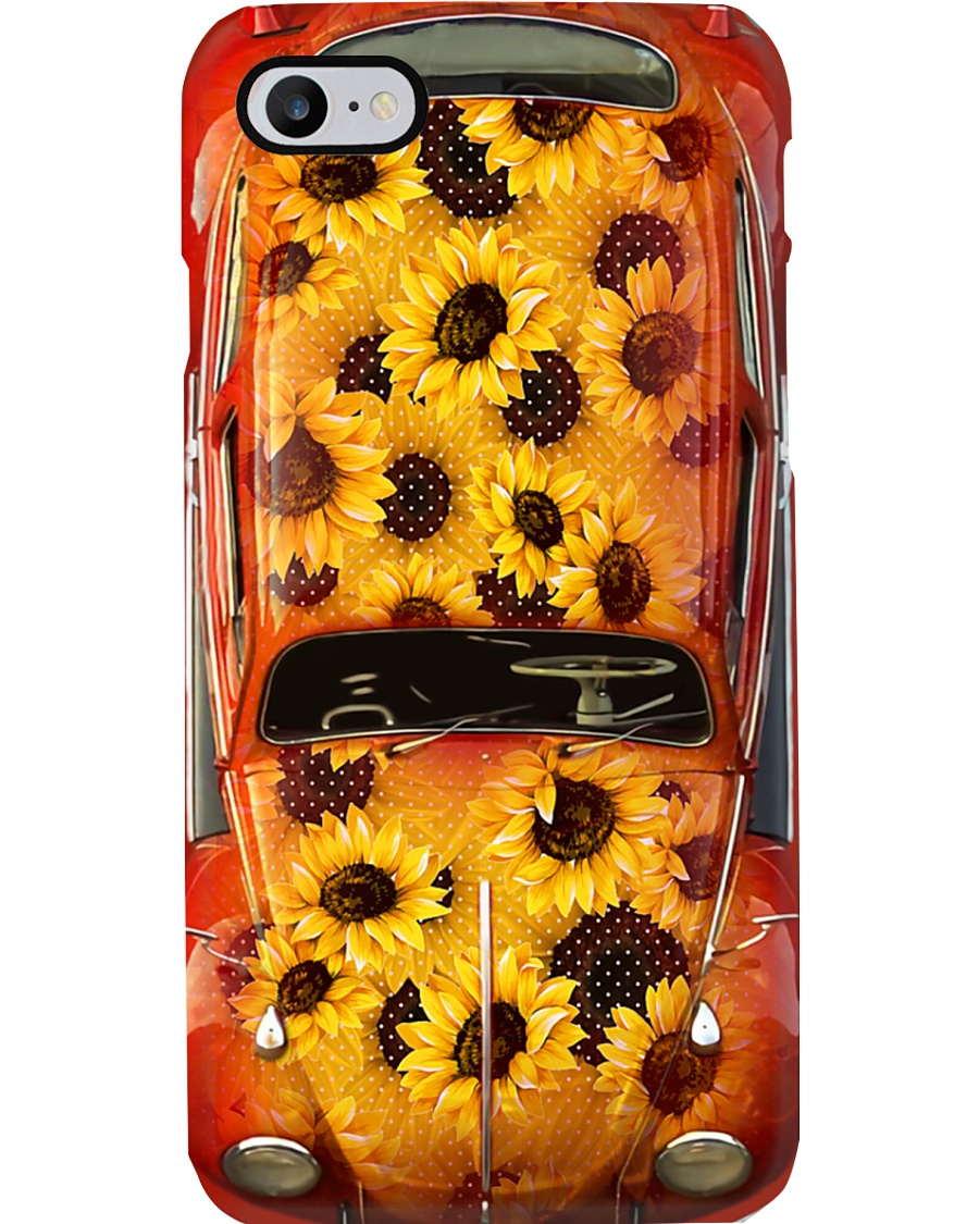 Sunfflower VW Bug Love Phone Case