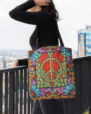 Love Peace All-over Tote aos-all-over-tote-lifestyle-front-05