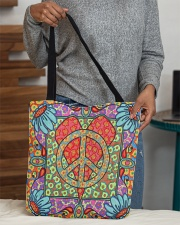 Love Peace All-over Tote aos-all-over-tote-lifestyle-front-10