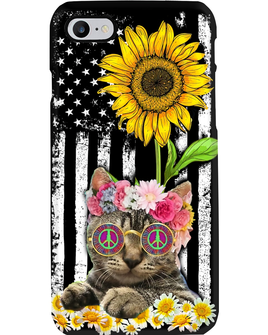 Hippie Cat Phone Case