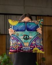 "Bus Peace Indoor Pillow - 16"" x 16"" aos-decorative-pillow-lifestyle-front-03"